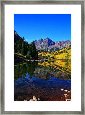 Maroon Bells In Aspen 2 Framed Print by Bruce Hamel