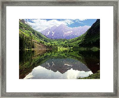 Framed Print featuring the photograph Maroon Bells  by Jerry Battle
