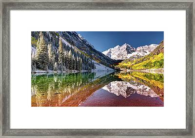 Maroon Bells At Dawn Framed Print