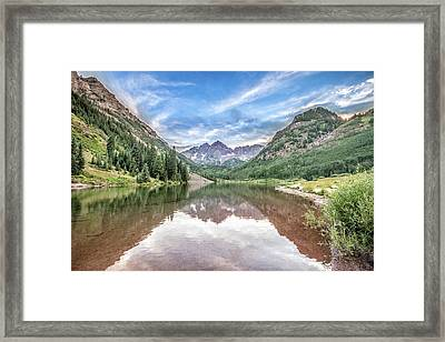 Maroon Bells Near Aspen, Colorado Framed Print by Peter Ciro