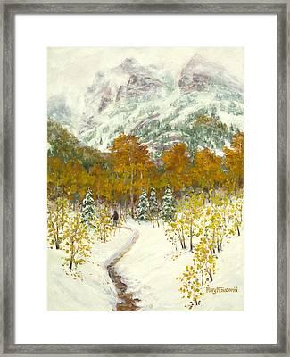 Maroon Bells-snowmass Wilderness Trek Framed Print