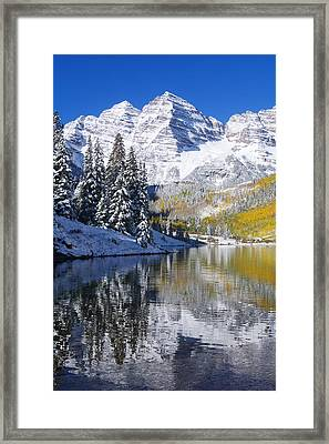 Maroon Lake And Bells 2 Framed Print by Ron Dahlquist - Printscapes