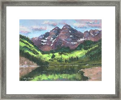 Maroon Reflections Framed Print