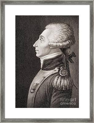 Marquis De Lafayette Framed Print by American School