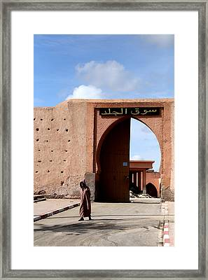Framed Print featuring the photograph Marrakech 1 by Andrew Fare