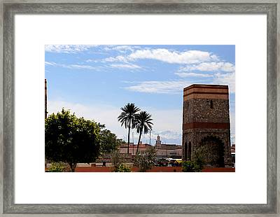 Framed Print featuring the photograph Marrakech 2 by Andrew Fare