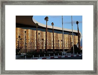 Framed Print featuring the photograph Marrakech Airport 1 by Andrew Fare
