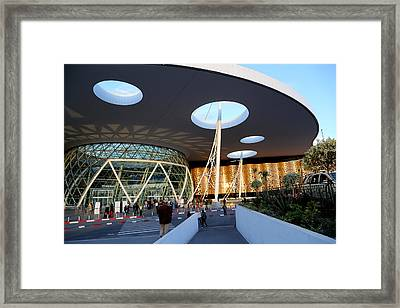 Framed Print featuring the photograph Marrakech Airport 2 by Andrew Fare