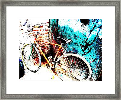 Marrakech Funky Bike  Framed Print by Funkpix Photo Hunter