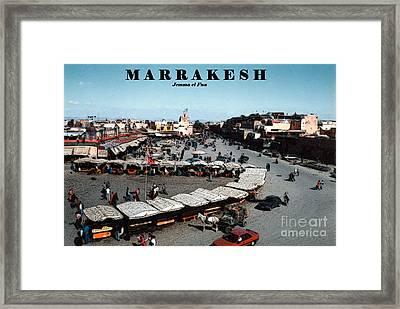 Marrakesh--jemma El Fna Framed Print by Linda  Parker