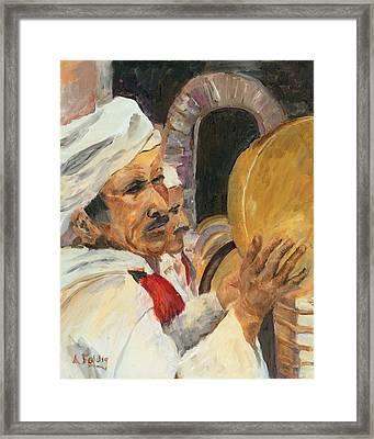 Marrakesh Musician Framed Print by Albert Fendig