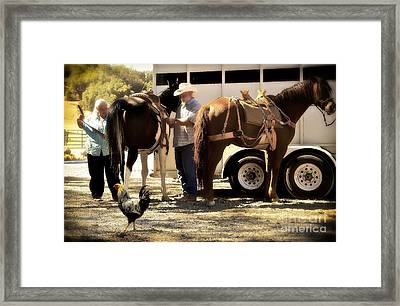 Marriage And The Deer Hunters Framed Print