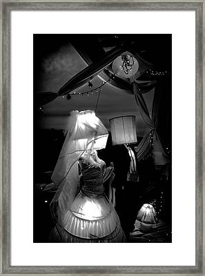 Framed Print featuring the photograph Marriage Of Darkness And Light by Alan Raasch