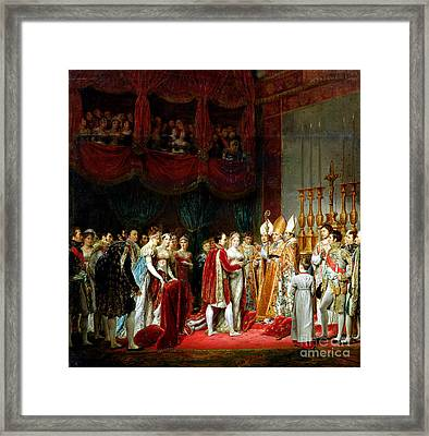 Marriage Of Napoleon I And Marie Louise Framed Print by MotionAge Designs