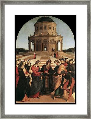 Marriage Of The Virgin - 1504 Framed Print by Raphael