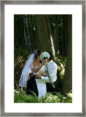 Married Framed Print by Juozas Mazonas