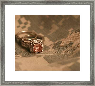 Married To The Army Framed Print by Aimee Galicia Torres