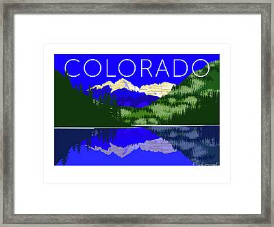 Maroon Bells Day Framed Print
