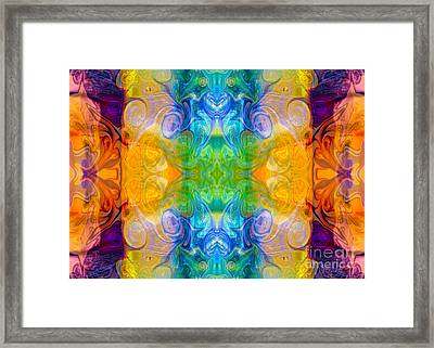 Marrying A Rainbow Abstract Bliss Art By Omashte Framed Print