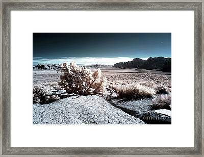 Mars At Red Rock Canyon Framed Print by John Rizzuto