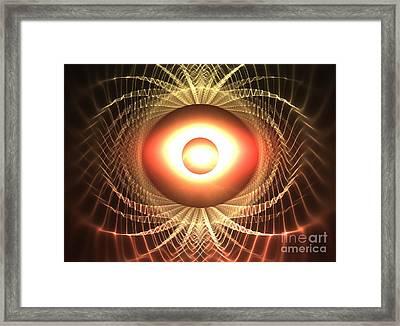 Mars Eclipse Framed Print by Kim Sy Ok