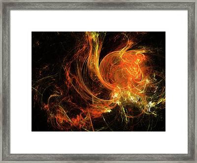 Mars In Fire Framed Print by Julia Bagryanskaya