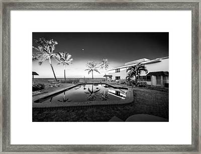 Mars Poolside Framed Print