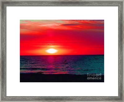 Mars Sunset Framed Print