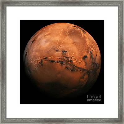 Mars The Red Planet Framed Print