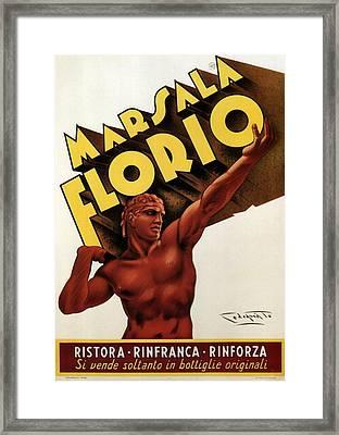 Marsala Florio - Sicily, Italy - Vintage Poster Framed Print