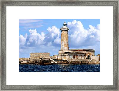 Marsala Lighthouse Framed Print by Anthony Dezenzio