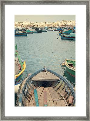 Marsaxlokk - Malta Framed Print by Cambion Art