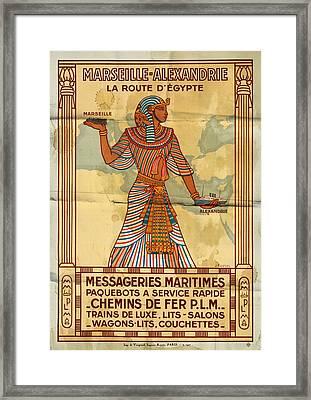 Marseille - Alexandrie La Route D'egypte - Folded Framed Print