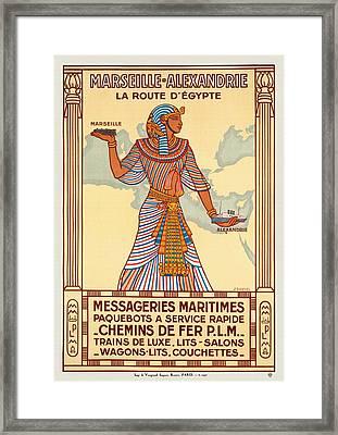 Marseille - Alexandrie La Route D'egypte - Restored Framed Print