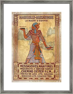 Marseille - Alexandrie La Route D'egypte - Vintagelized Framed Print