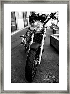 Marseille Motorcycle Framed Print by John Rizzuto