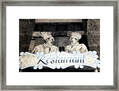 Marseille Restaurant Framed Print