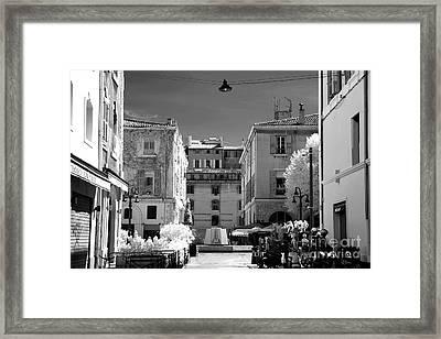 Marseille Street View Framed Print by John Rizzuto
