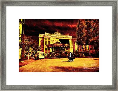Marseille Red Framed Print