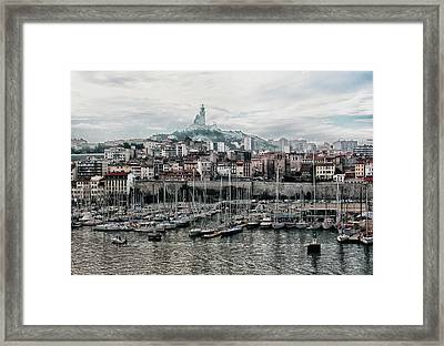 Framed Print featuring the photograph Marseilles France Harbor by Alan Toepfer