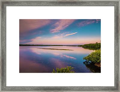 Framed Print featuring the photograph Marsh At Sunrise by Steven Ainsworth