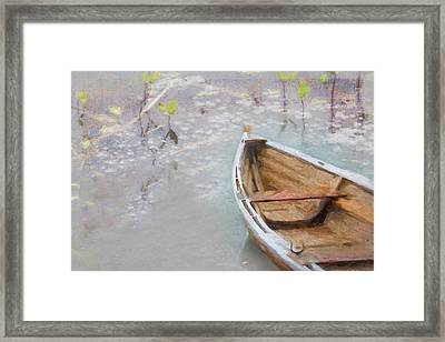 Marsh Dory Framed Print