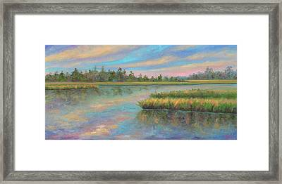 Marsh Glow In The Low Country Framed Print