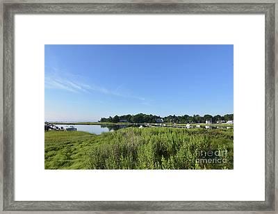Marsh Grass Surrounding Duxbury Bay In Southeastern Massachusett Framed Print by DejaVu Designs
