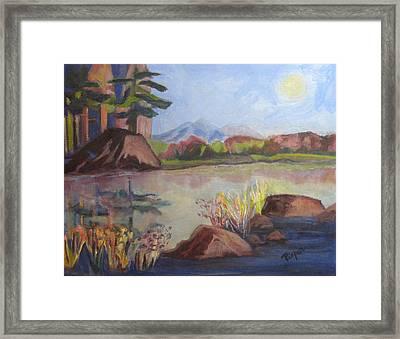 Marsh Land Framed Print by Betty Pieper