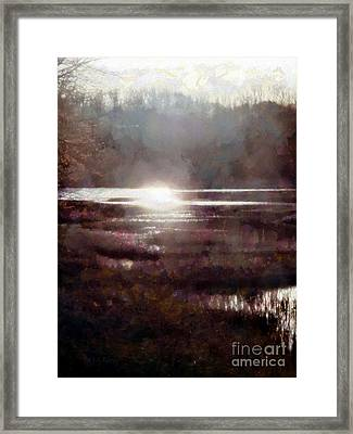 Marsh Moods - At The End Of The Day - Vertical Framed Print