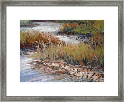 Marsh Reflections Framed Print by Marilyn Masters