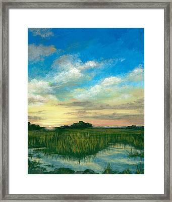 Marsh Sunrise Framed Print