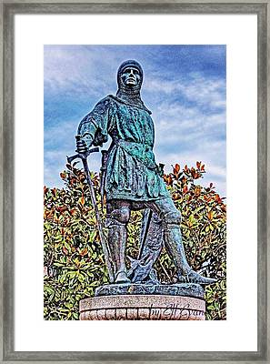 Framed Print featuring the photograph Marshal Of Brittany Jehan De Beaumanoir by Elf Evans