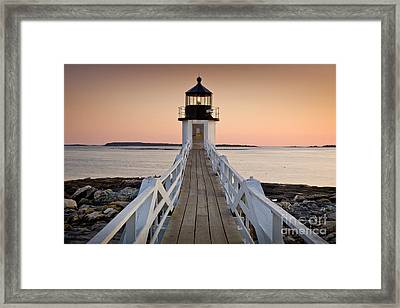 Marshal Point Glow Framed Print by Susan Cole Kelly